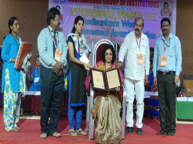 Woman's achievement Award. 8.3.2016