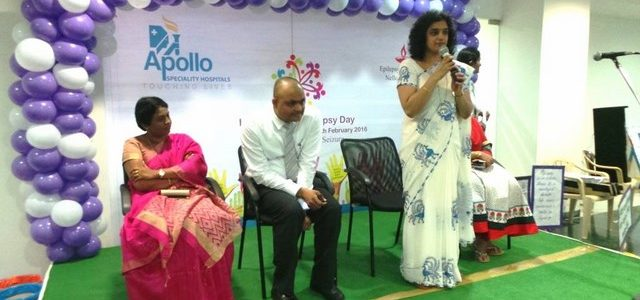 International Epilepsy Day was celebrated at Apollo hospitals. 08-02-2016