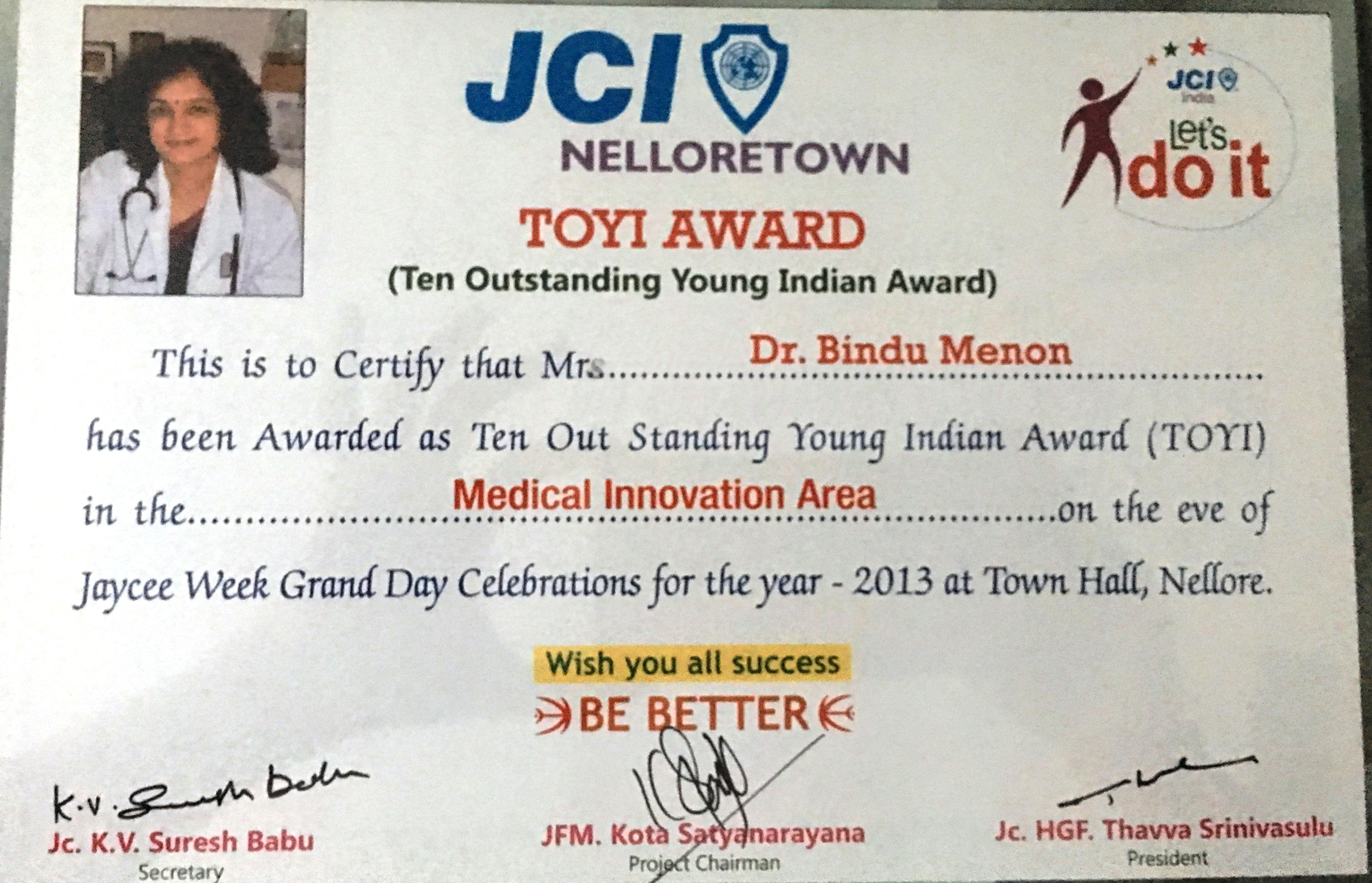 JCI TOYI Award