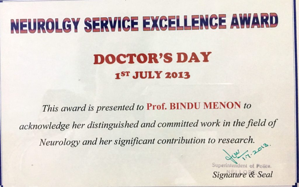 Neurology Service Excellence Award