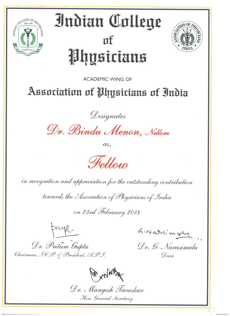 Fellowship of the Indian College of Physicians (FICP))