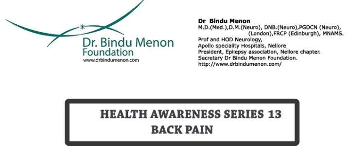 Health Awareness Series -13 – Back Pain