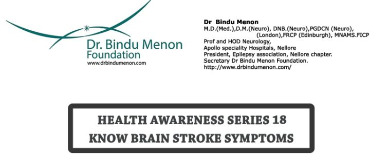 Health Awareness Series 18 – Know Brain Stroke Symptoms