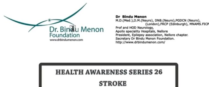 Health Awareness Series 26 stroke by Dr Bindu Menon