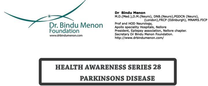 Health Awareness Series 28 Parkinson Disease by Dr Bindu Menon