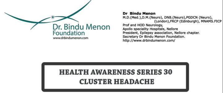 Health Awareness 30- Cluster Headache