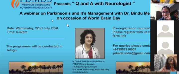 Know about Parkinson's disease- Dr Bindu Menon -05-09-2020