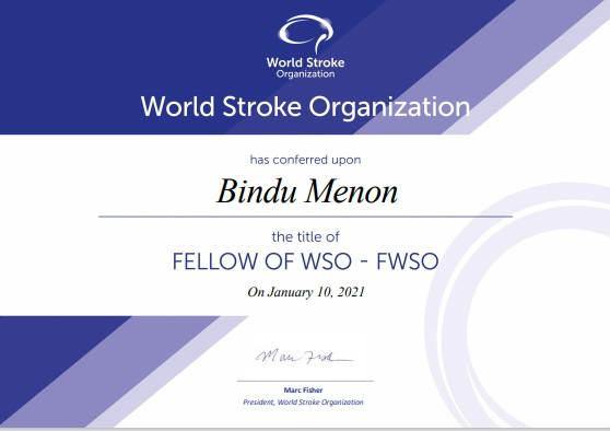 Fellowship of the World Stroke Organisation 2021