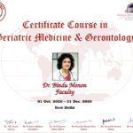 Certificate Course in Geriatric Medicine & Gerontology