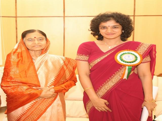 Privilege to be with Former President Shree Pratibha Patil