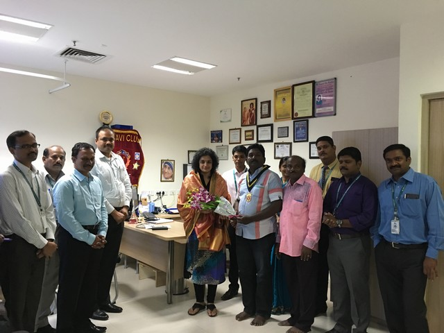 Vasavi club award on Doctors day