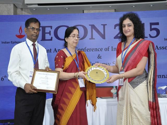 H C Bajoria Award From Indian Epilepsy Association. 6.2.16