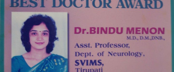 Best Doctor award for the year 2004