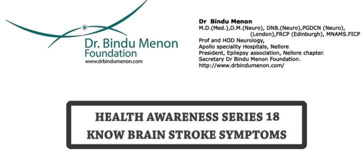 Health Awareness Series 18 – Know Brain Stroke Symptoms