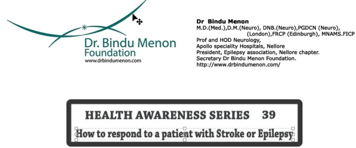 Health awareness series 39-How to respond to a patient with Stroke or Epilepsy
